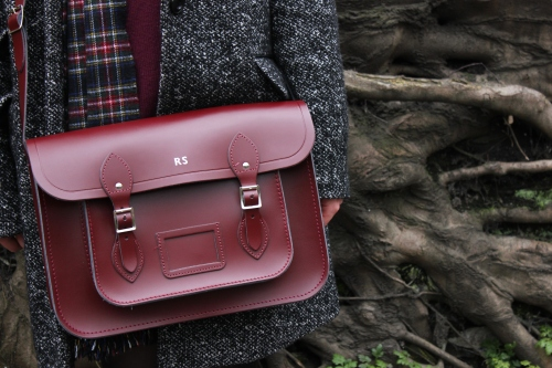 Cambridge Satchel Company Oxblood 14-inch satchel