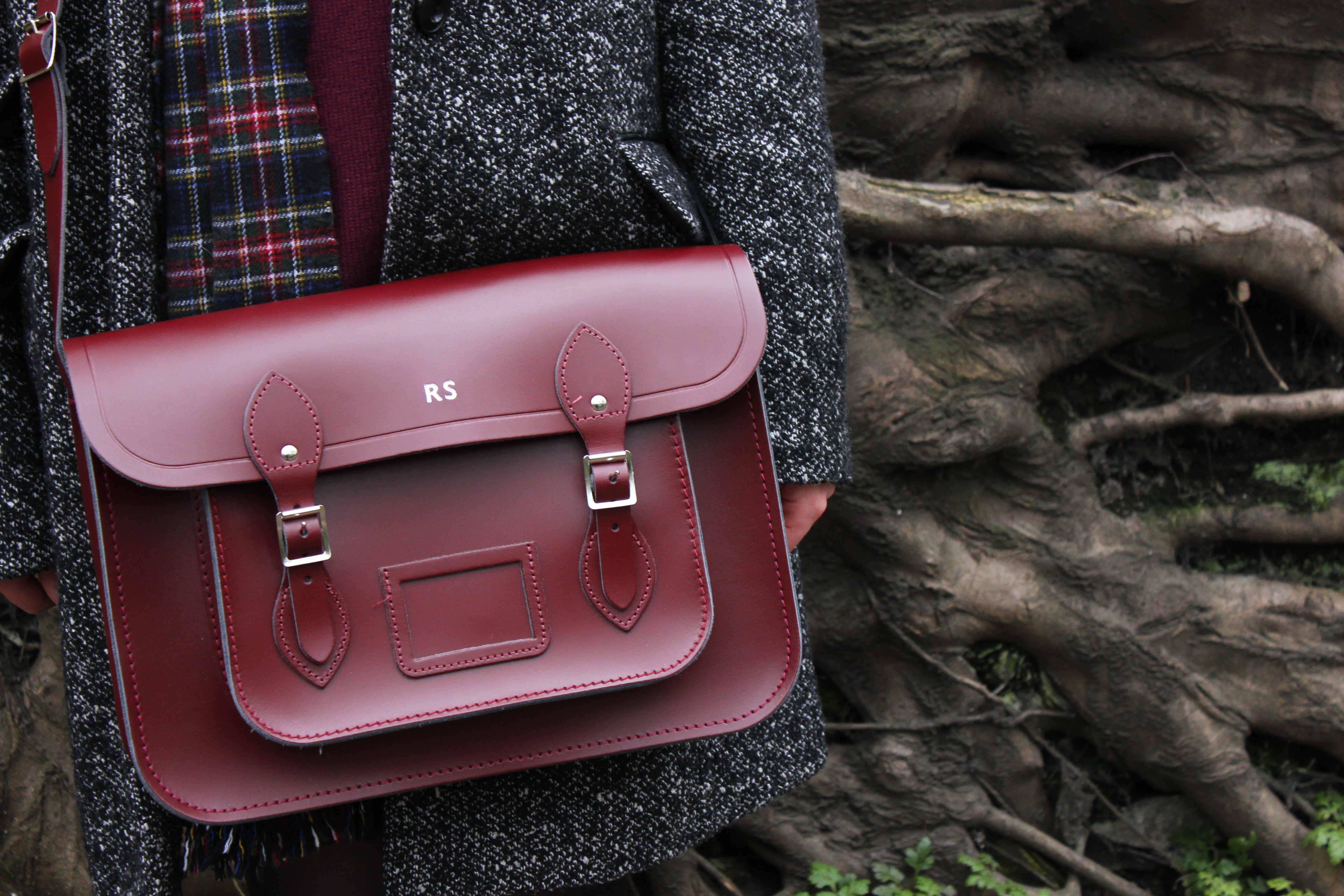 Oxblood Cambridge Satchel 14-inch