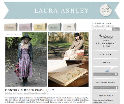 Laura Ashley Blogger of the Month Everything Looks Rosie