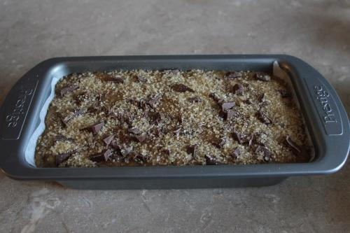 Banana, chocolate and cardamom loaf