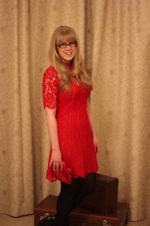 Red Lace M&S dress