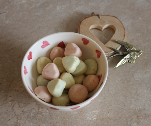 White chocolate fudge hearts