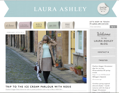 Everything Looks Rosie for Laura Ashley