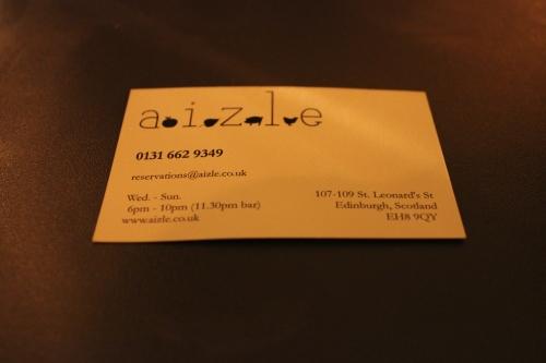 Aizle Edinburgh
