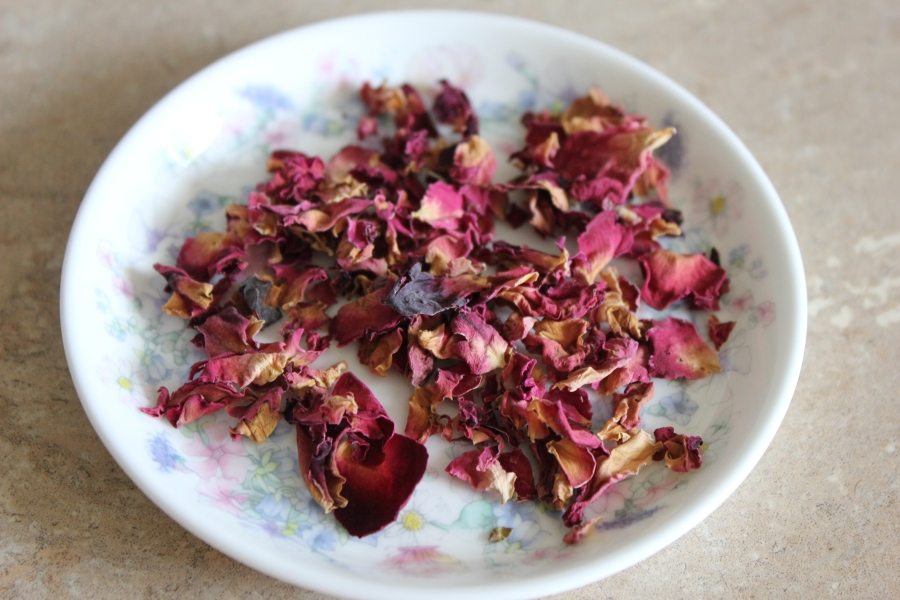 Rose petal biscuits