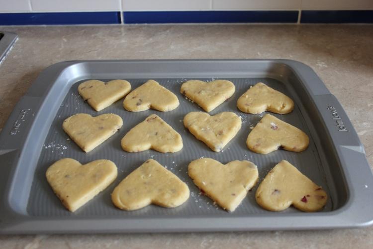 Rose petal biscuits