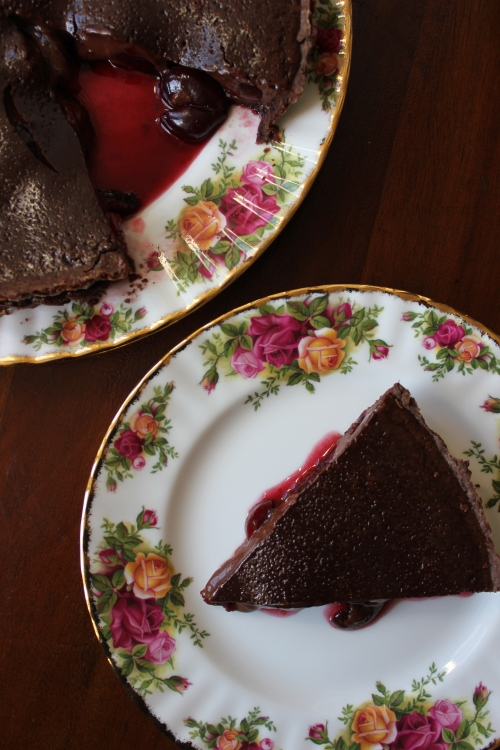 Cherry and Chocolate Tart