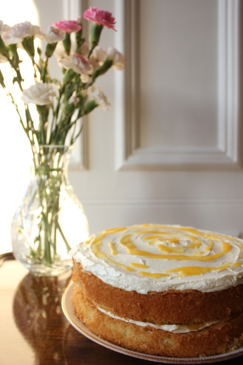White chocolate and passionfruit cake