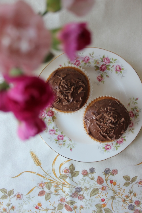 Banana & chocolate cupcakes Hummingbird Bakery