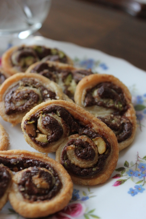 Chocolate and Pistachio Palmiers