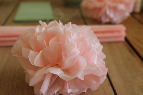 DIY tissue paper pom-poms