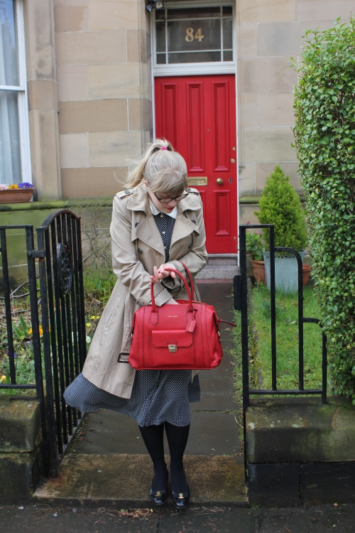 Red Laura Ashley handbag