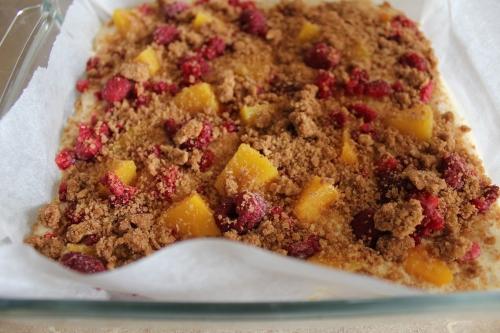 Peach and Raspberry Buckle