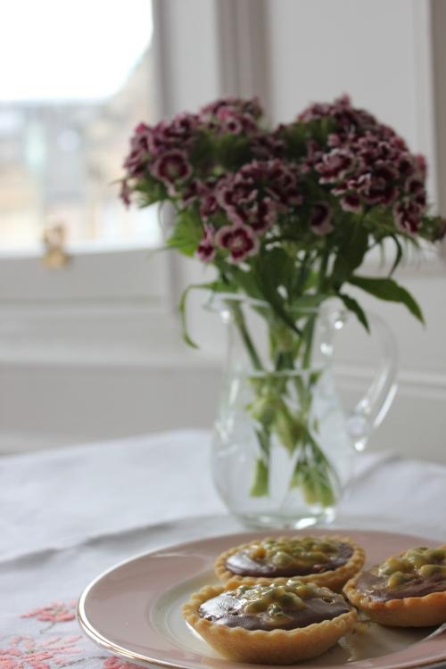 Lily Vanilli passionfruit ganache tarts