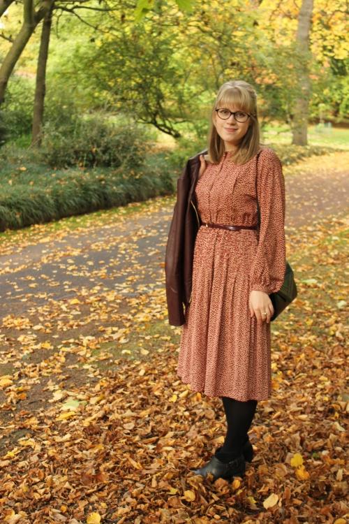 Burgundy vintage dress