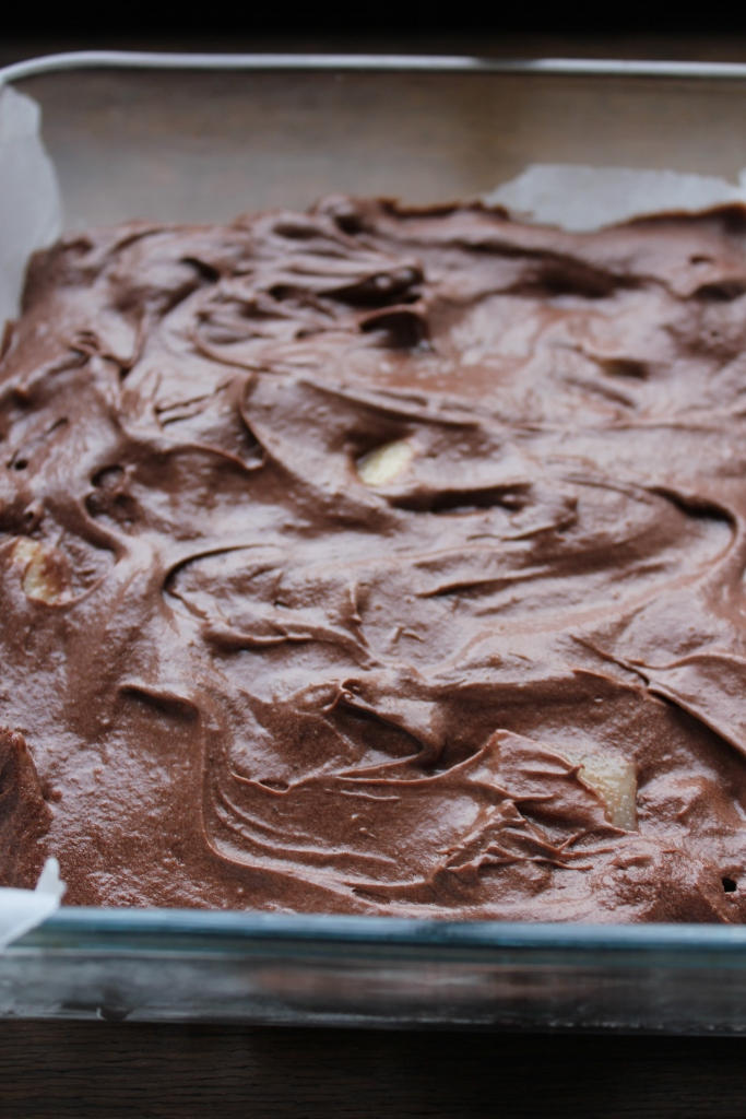 Chocolate & Pear Brownie