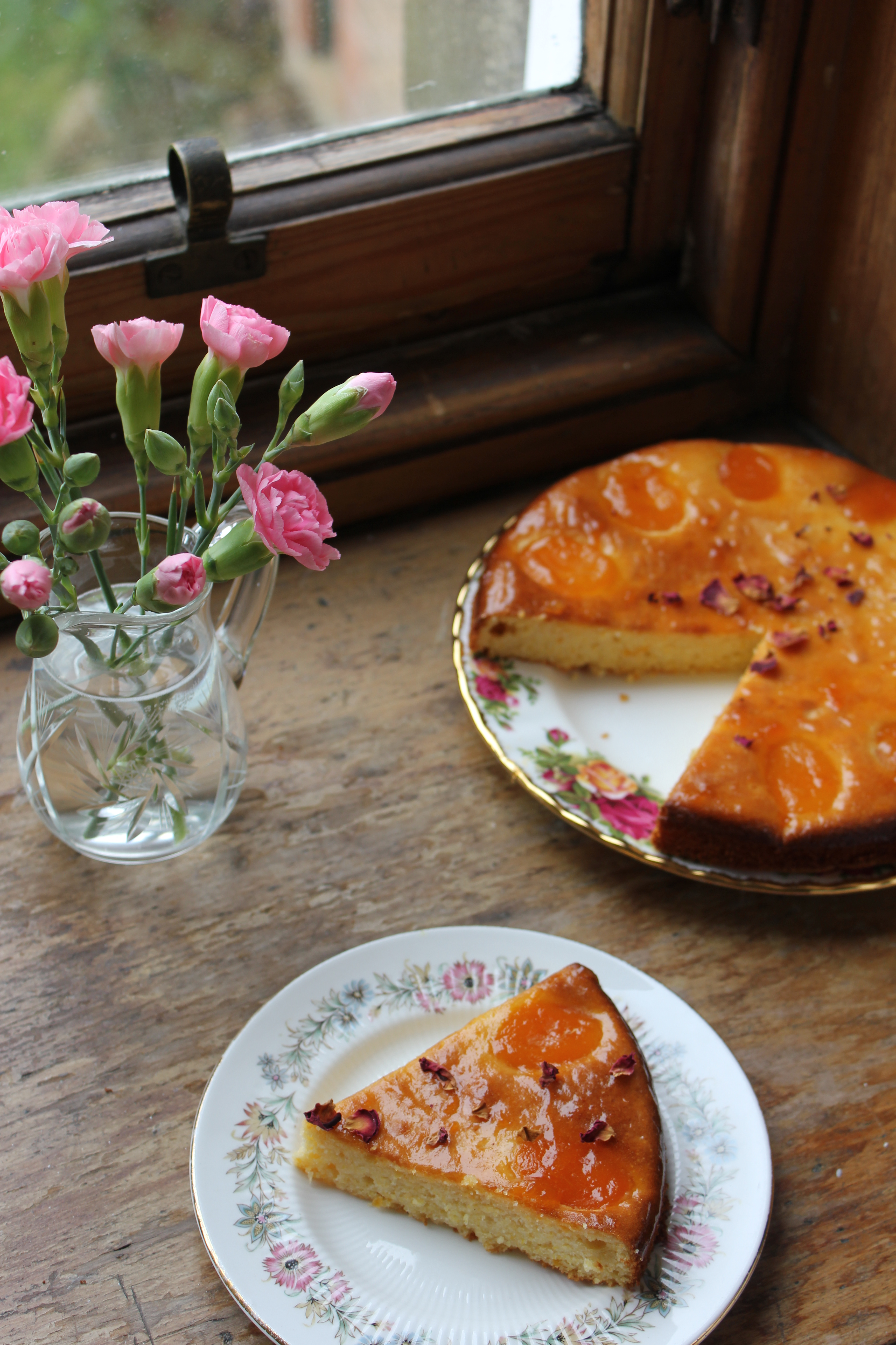 Nigella apricot almond cake with rosewater and cardamom