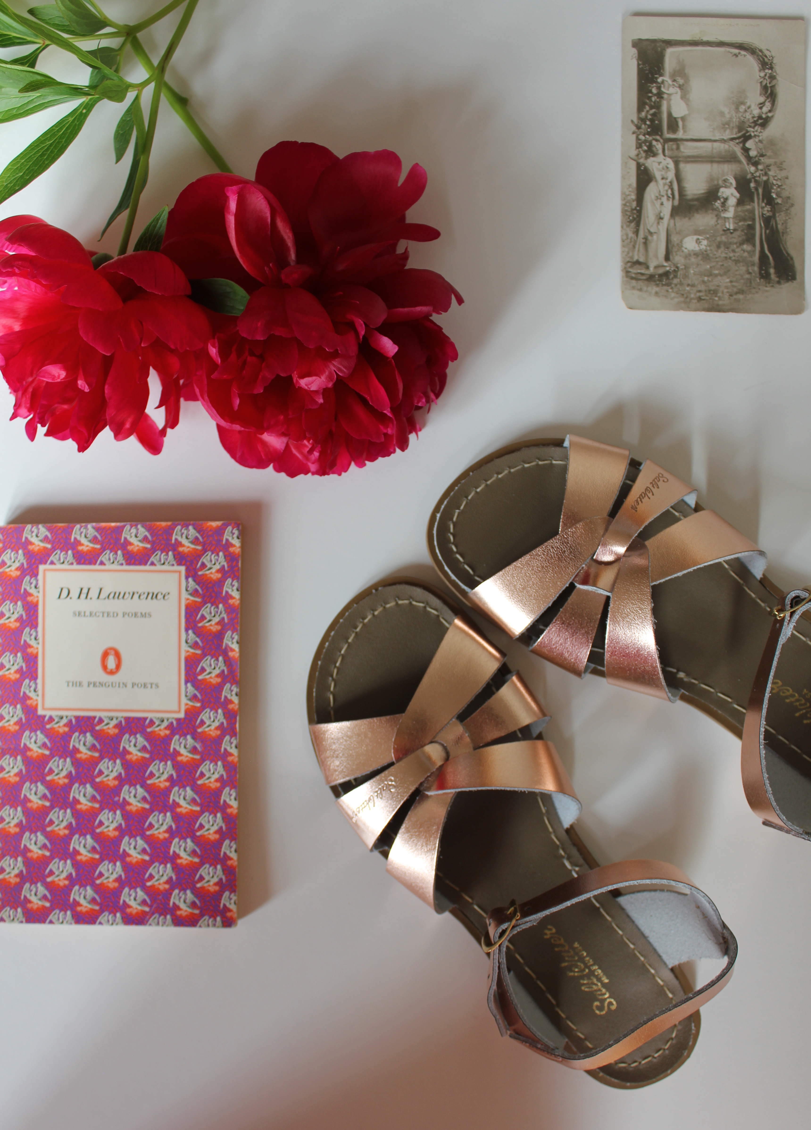 Rose Gold Salt-Water Sandals